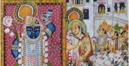 Pichwai Painting ~ Sandhya Aarti (6 X 4 feet)
