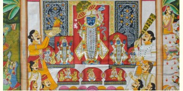 Pichwai Painting ~ Darshan Shrinath ji  (6 X 4 feet)