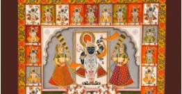 Pichwai Painting ~ Shrinath ji  ~ 24 Darshan (5 X 4 feet)