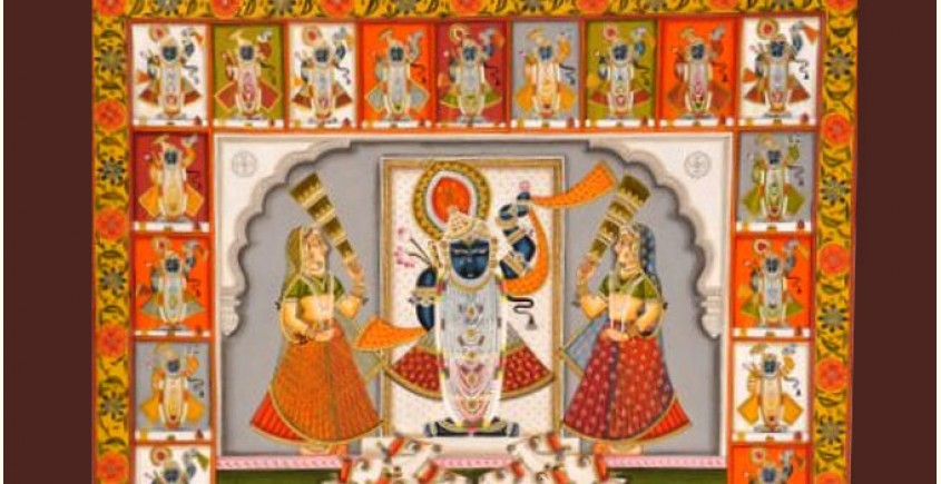 Pichwai Painting ~ Shrinath ji  ~ 24 Darshan