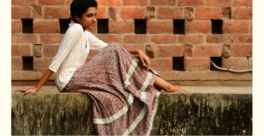 Ajrakh Silk Skirts ~ Vegetable colors V