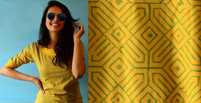 Geometries on yellow ~ Gaamthi tshirt