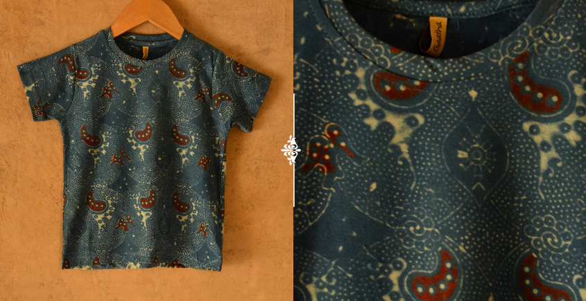 Earths vanity ✼ Vegetable Colors Ajrakh T-Shirt ( Kids )