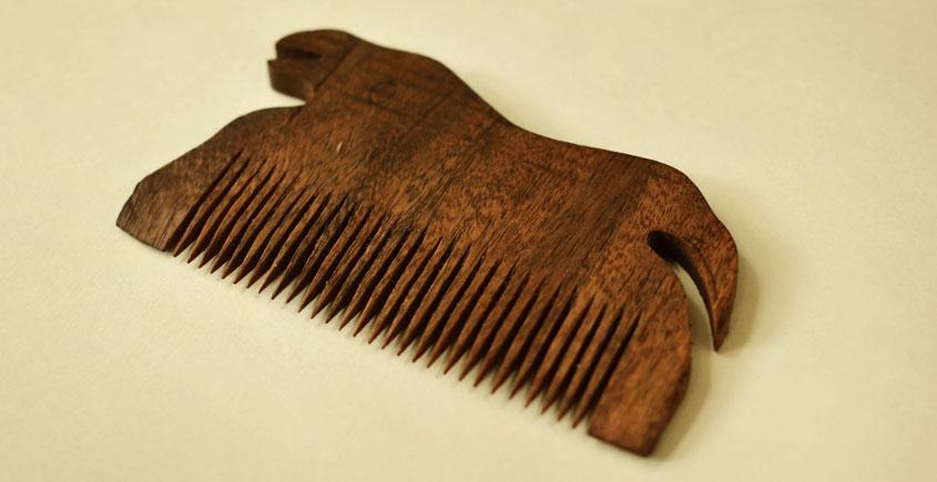 Wooden comb ~ Tribal markings { 3 }