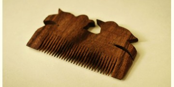 Wooden comb ~ Tribal markings { 6 }