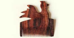 Wooden comb ~ Rooster