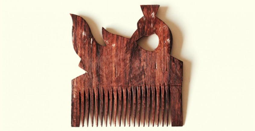 Wooden comb ~ Peacock
