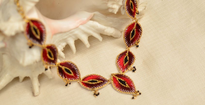 Of Glitter & Shine ☆ Embroidered Jewelry { Necklace } 15