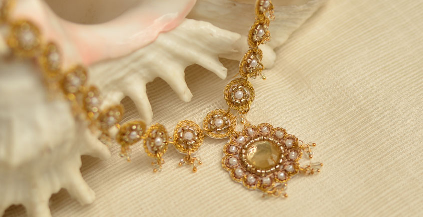 Of Glitter & Shine ☆ Embroidered Jewelry { Necklace } 17