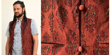 Ajrakh Block Printed Jacket ♦ 35
