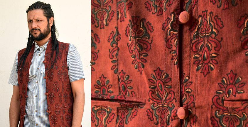 Ajrakh Block Printed Jacket ♦ 35