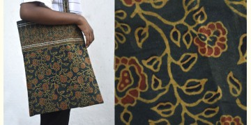 Getting carried away ~ Handmade Cotton Ajrakh Bag ~ 7