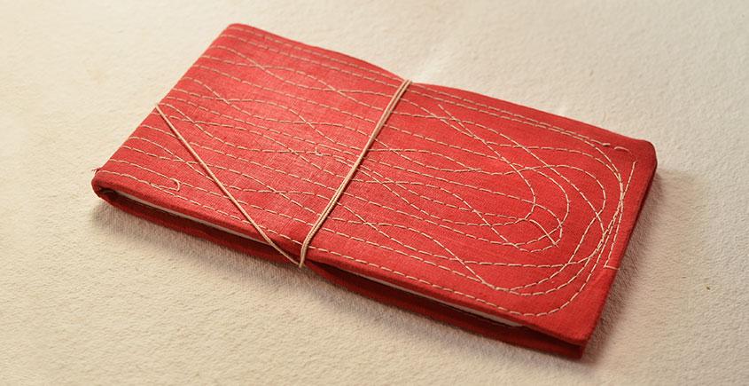 Bahi khata Red diary ☙ 30 { 12 X 6.5 in }