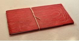 Bahi khata Red diary ☙ 33 { 14 X 7 in }