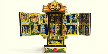 Kaavad ~ A Wooden Shrine (Blue -19 cm)
