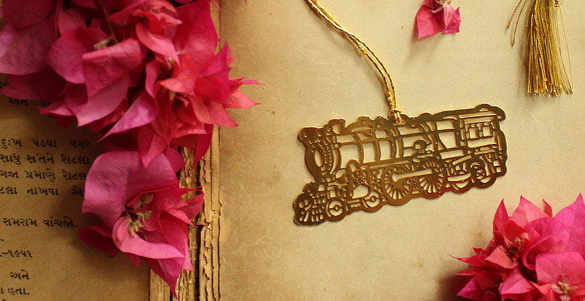 A Golden Tag ❉ Gold Plated Bookmarks ❉ 1