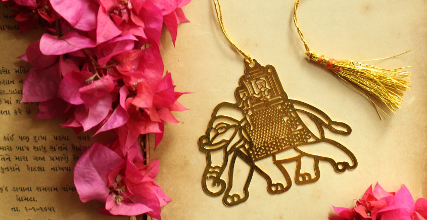 A Golden Tag ❉ Gold Plated Bookmarks ❉ 12