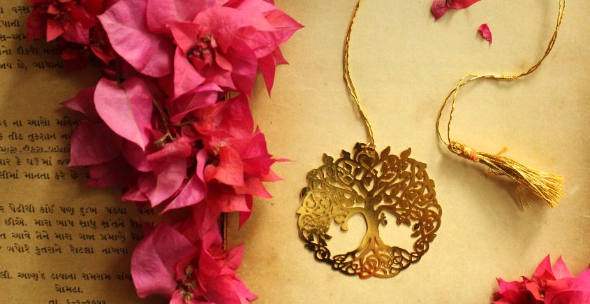 A Golden Tag ❉ Gold Plated Bookmarks ❉ 18