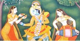 Pichwai Painting ~ Radha. Krishan { 2' X 3' }