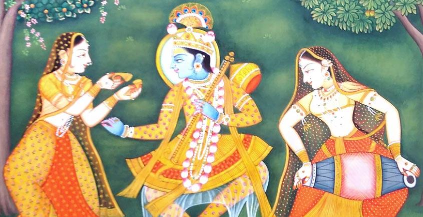 Pichwai Painting ~ Radha with Krishana
