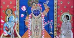 Pichwai Painting ~  Shrinath ji, Yamuna ji and Mahaprabhuji