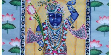 Pichwai Painting ~ Shrinath ji with lotus