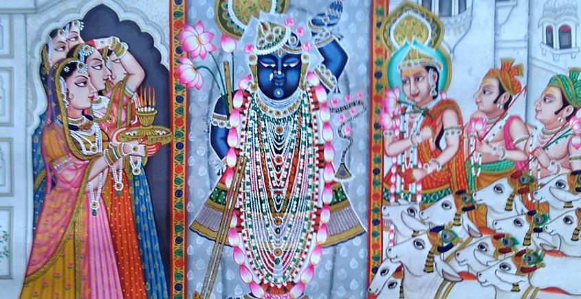 Pichwai Painting ~ Go charan ( Srinath ji )