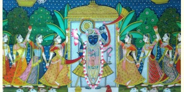 Sharad Poornima . Fine work ~ { 3X4 Feet }