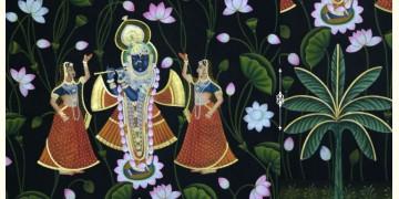 Pichwai Painting ~ Kamal Talai Srinath ji ~ { 3 X 5 Feet}