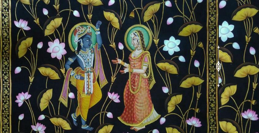 Pichwai Painting ~ Kamal Talai . Radha Krishna