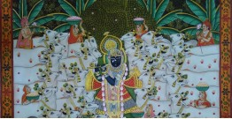 Pichwai Painting ~ Gokul Van ~ { 2 X 3 Feet }