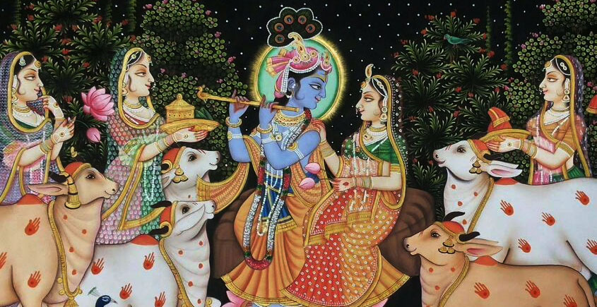 Painting ~ Krishna with Gopis
