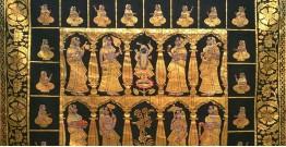 Pichwai Painting ~ Krishna Darbaar ~ { 4 X 4.5  Feet }