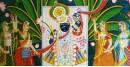 Pichwai Painting ~  Srinath ji . Kamal taal { 3.5 X 5 Feet }