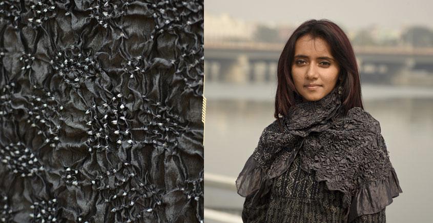 Ela ☘ Naturally Dyed . Bandhani Silk Stole ☘ 4