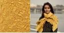 Ela ☘ Naturally Dyed . Bandhani Silk Stole ☘ 12