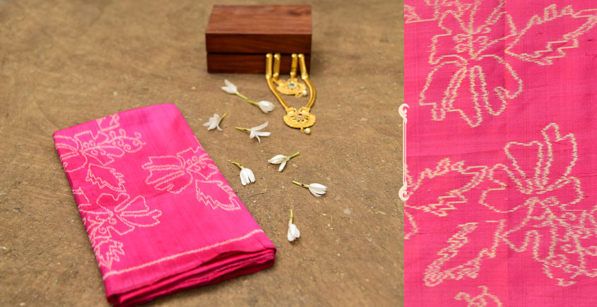 Dakshyayani ✲ Handwoven Ikat Silk Scarf ✲ 12