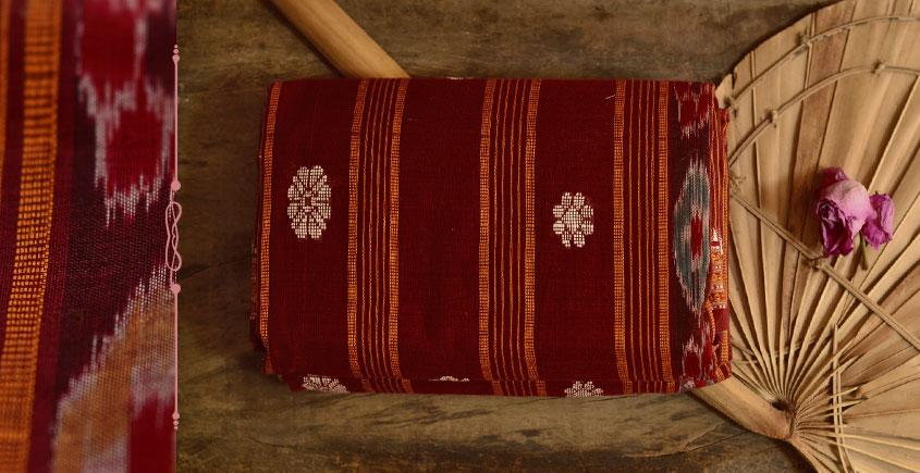 Cotton weaves ~ Ikat Saree { kumkum - 2 }