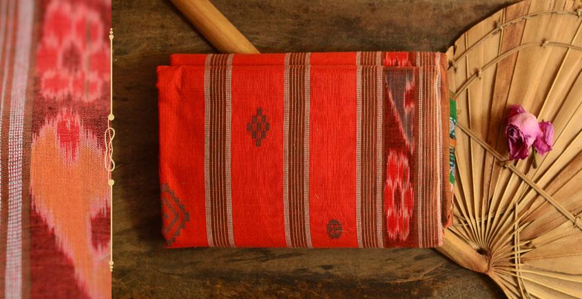 Cotton weaves ~ Ikat Saree { Sindoor - 2 }