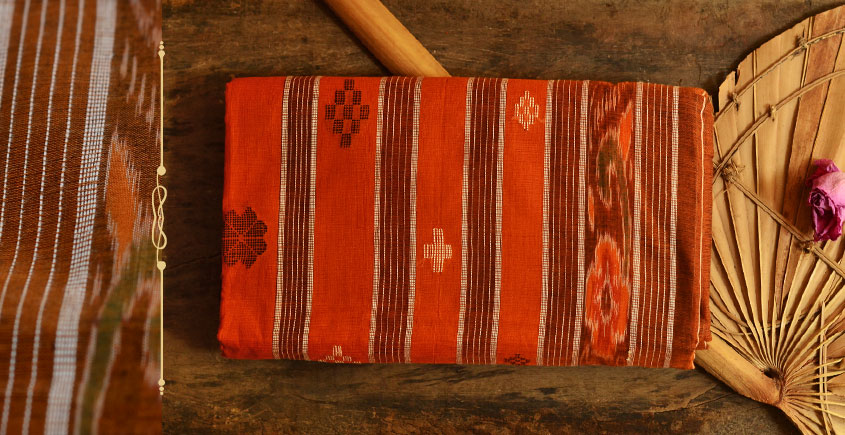 Cotton weaves ~ Ikat Saree { Sindoor - 3 }