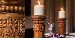 Karu ☘ Temple Pillar Lights { Wood } ☘ 6