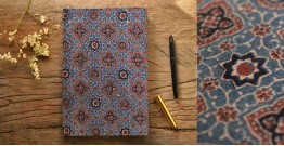 Hand Bound Ajrakh Cover Notebook ~ 01