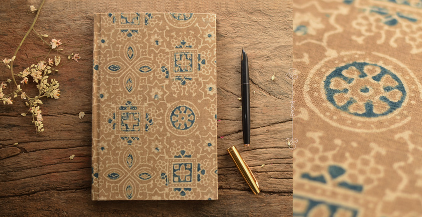 Hand Bound Ajrakh Cover Notebook ~ 02