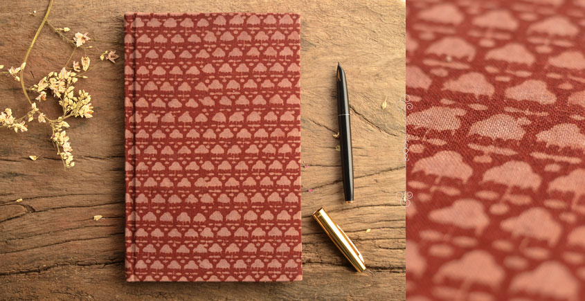 Hand Bound Ajrakh Cover Notebook ~ 07