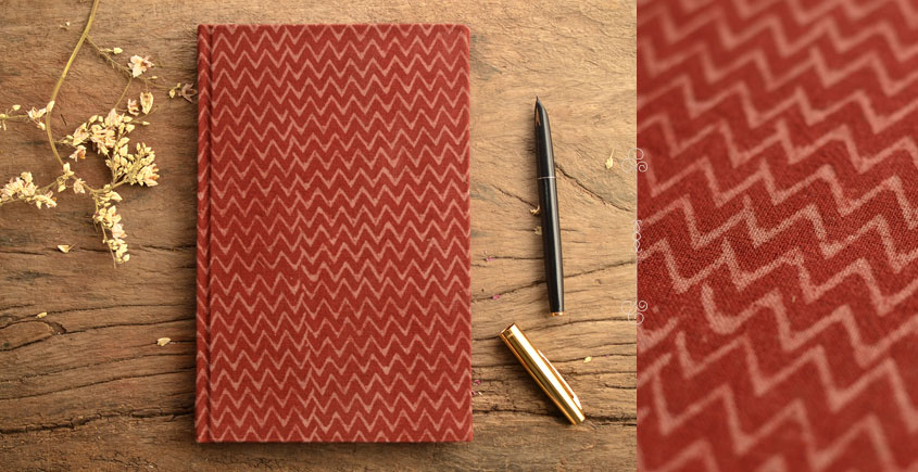 Hand Bound Ajrakh Cover Notebook ~ 08