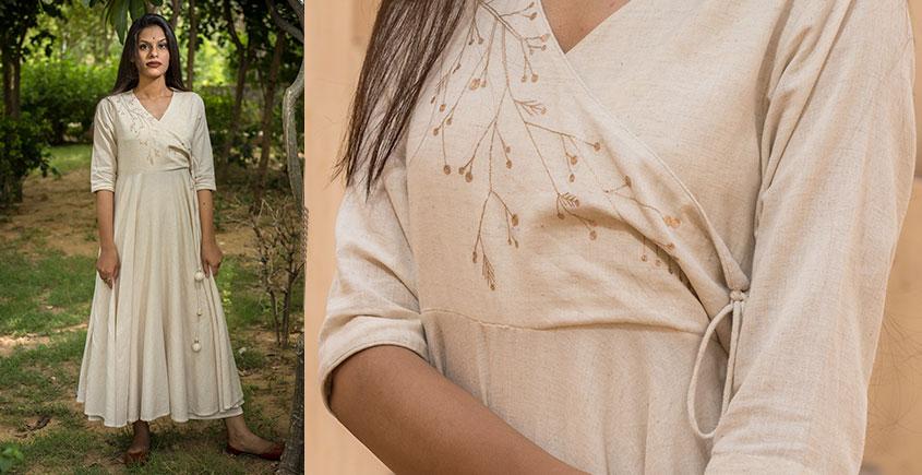 Jamiti Shwet ❈ Vined Sufi Kurta + Skirt