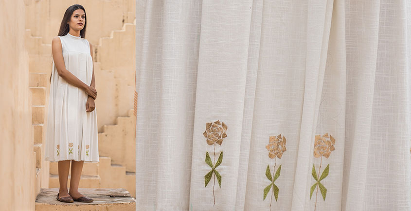 Jamiti Shwet ❈ Mardi Gras Rose Box Pleat Dress