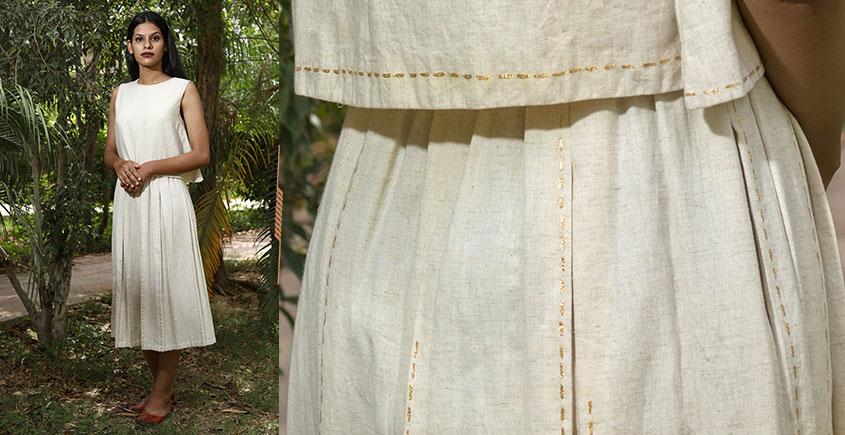 Jamiti Shwet ❈ Broken Lines Crop Top + Skirt