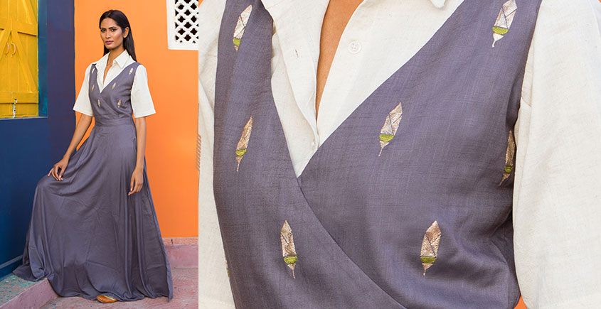 Jamiti ❈ Adorned ashes pinafore maxi + shirt