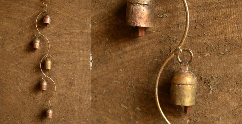 spiral shape handmade metal bell for home interior